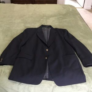 Navy Blue Jos. A Bank Dress Coat